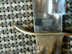 1950 Rare Solingen Germany 13 Bowie Stag Bone Hunting Survival Knife Crane Case