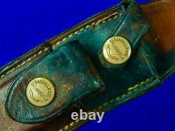 1950s Custom Handmade RANDALL Model 4 6 Hunting Knife Brown Button Sheath Stone