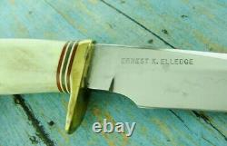 1960's VIETNAM ERA RANDALL KNIFE MODEL 4 7 BIG GAME SKINNER JOHNSON ROUGHBACK