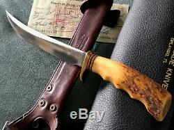 1966 Rare Randall Knife Model 4-7 with Custon Vintage Quick Draw Concealed Sheath
