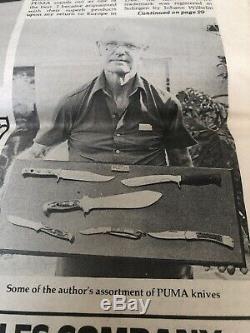 1974 PUMA WAIDBESTECK Knife Set WAIDBLATT 3588 JAGDNICKER 3587 Colonel Miller