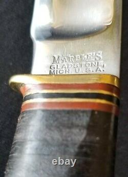 19Teens -1920 Vintage Marbles MSA Co. CANOE Bowie Knife The Real Deal Minty