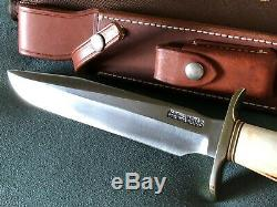70'S Randall 1-8 Fixed Blade Knife Stainless Steel Smooth Button Sheath Un-Used