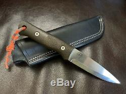 Adventure Sworn Classic (R-Series) Fixed Blade Bushcraft Knife with Leather Sheath
