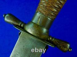 Antique 19C German Germany Austria Austrian Huge Bowie Hunting Fighting Knife