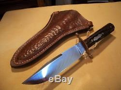 Antique J. Russell Green River Hunting Knife, cir 1900, MINT! With Custom Sheath