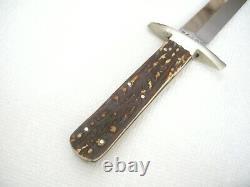 Antique MINTY CIVIL WAR 8 in Fighting Bowie Knife Dagger F WARD B4 ANY SHEFFIELD