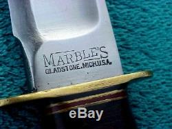 Antique Marbles Ideal 8 Hunting Survival Knife USA A3