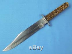 Antique Old British English Alfred Williams Sheffield Ebro Hunting Bowie Knife