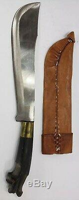 Antique hand made vintage filipino Knife short machete chopper Knife with sheath