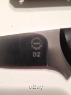 BOB DOZIER ARKANSAS MADE KNIVES Model K-33 Bird & Trout Knife Micarta Sheath