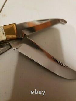 BROWNING Game Warden #504 STAG BIG GAME HUNTING KNIFE, SAW, GUT HOOK