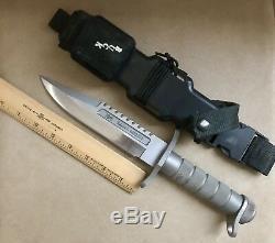 BUCK 184 BUCKMASTER Survival Knife 1985 ORIGINAL VARIATION 2 SHEATH
