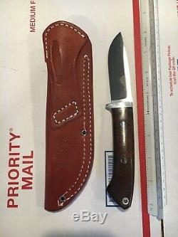 Bark River Knife 8.5L 3.5 A-2 Tool Steel Blade W Leather Sheath