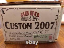 Bark River Knife And Tool Cumberland Trail Skinner, 2007 Custom Rare Knife
