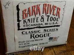 Bark River Knife And Tool Rogue Bowie, 1st Run, Rarer Hidden Tang, Micarta