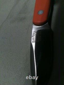 Bark River Knives CPM 154 Blaze Orange 1st Production Run Knife Escanaba, MI USA