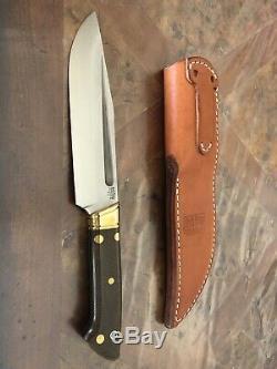 Bark River Knives Vidarr Dan Tope Designed black and scarlet maple burl handle