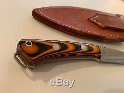 Bark River Knives in A2 steel Northstar Tigerstripe G-10 with Sheath USA made