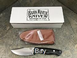 Bark River North Country EDC Knife CPM-154 Black Canvas 02-054MBC Fixed Blade