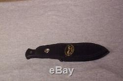 Bench Mark Boot Knife Double Edge Dagger With Sheath Never Used Made In The USA