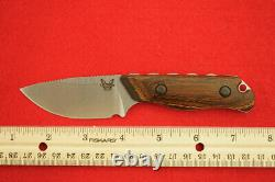 Benchmade 15017 Hidden Canyon Hunter Cpm-s30v Stabilized Wood Fixed Blade Knife