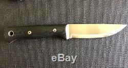 Blackfeather knives woodsman full custom fixed black feather NOT bark river