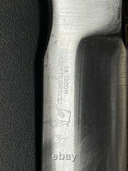 Blackjack Classic Blades Effingham No. 5 #5 Number 5 Knife Stacked Leather Grip