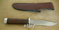 Blackjack Classic Model #5 Fixed Blade Knife, Stacked Leather Handle, Knifeware