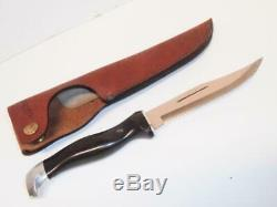 CUTCO HUNTING KNIFE #1769 D86 DD EDGE, WithLEATHER SHEATH NEVER USED