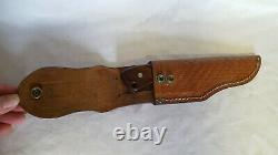 Case XX 10 Dot R503 SSP Fixed Blade Knife Wood Handle With Leather Sheath