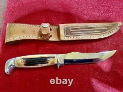 Case XX USA Stag 523-5 Fixed Blade Knife 65-69 shiny blade withCase Sheath
