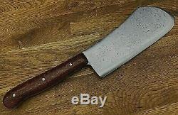 Custom Buffalo Skinner/Chopper Round Nose Cleaver Mod Razor Sharp LF&C Knife Vtg