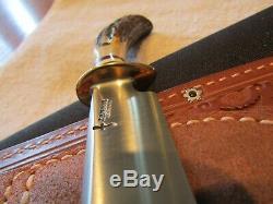 Custom Handmade Knife. Jim Behring Deer And Trout Knife. Unused. Excellent+++
