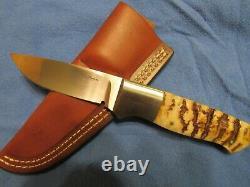 Custom Handmade Knife. Ron Gaston Drop Point Model 7. Unused. Excellent