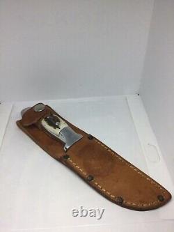 Custom Handmade R. H. RUANA KNIFE! Stag Hunting Skinner Knife. Very pretty knife