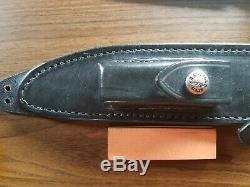 Custom Randall Made Knife Model 1 All Purpose Fighter with Leather Sheath & Stone
