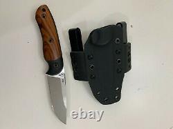 Dark Timber Knives Bushy Desert Ironwood/Black Micarta Fixed Blade