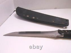 Dawson Fixed Blade Japanese Style Long Knife With Kydex Sheath