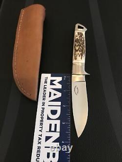 Dietmar Kressler Custom Integral Drop Point Hunter Knife/stag-loveless Design