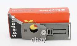 Discontinued Spyderco Squarehead Titanium Handle Pocket Knife S30V Blade C193TIP