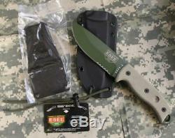 ESEE-5S-OD-E Combo Fixed Blade Knife, Kydex Sheath, Clip Plate, Survival Card