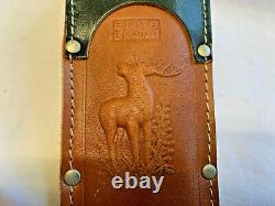 Edge Brand Bowie Knife 469 Stag Handle with Leather Sheath Fixed Blade Germany