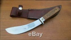FINEST Vintage RUSSELL Green River Works Carbon Steel Skinning Knife withSheath