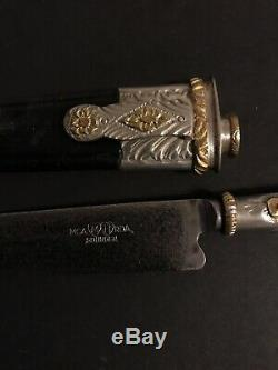 Gaucho Knife Solingen Mca Mh Rda 800 Sterling Silver Gold Inlay