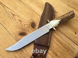 Gerber Bowie Knife Stag Handle Leather Sheath 238/1500 Limited Series USA
