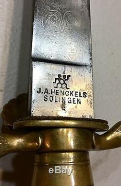 German Imperial Royal Hunting Dagger Sword Cutlass Hirchfanger Solingen WithKnife