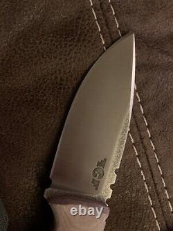 Gollik Knives ELX EDC Elmax Fixed Blade With Sheath