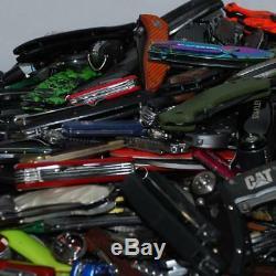 Grab Bag Lot of 100 TSA Confiscated Pocket Knives Various Brands Treasure Hunt