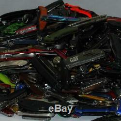 Grab Bag Lot of 6 Gov Confiscated Pocket Knives Various Brands Treasure Hunt